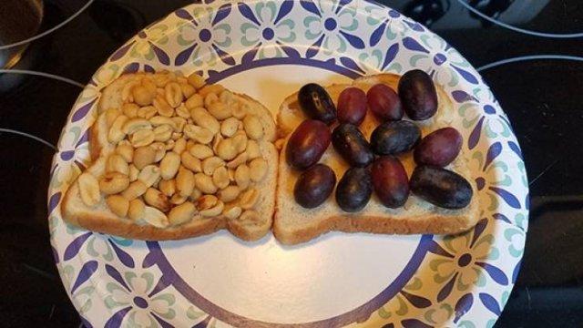 бутерброды на тарелке