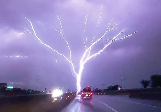 молния в виде дерева
