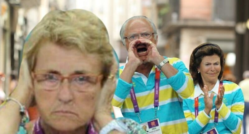 Король Швеции так яростно болел за свою сборную, что разжёг войну фотошоперов