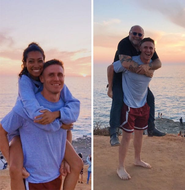 фото пары на фоне моря