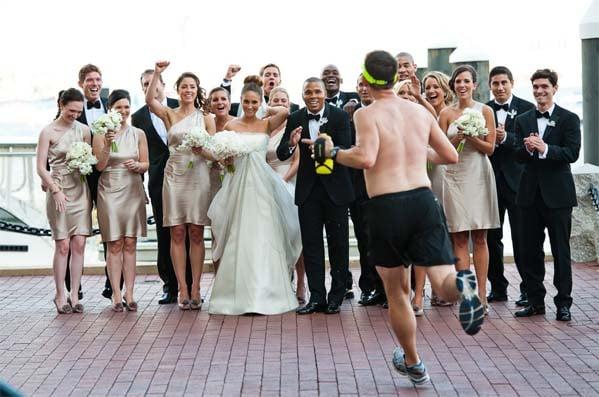 коллективное свадебное фото