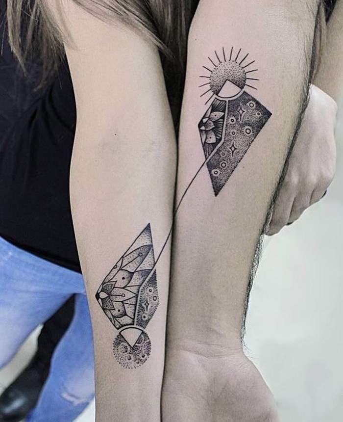 парное тату на руках
