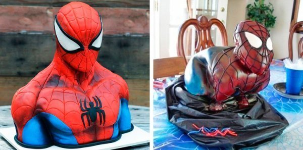 торт в виде человека-паука