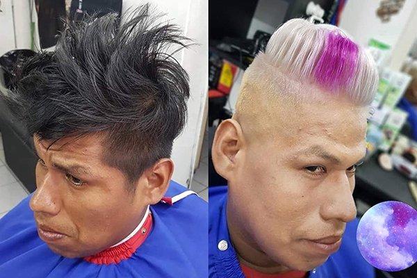 мужчины в парикмахерской