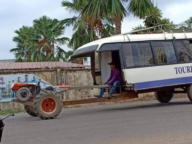 автобус с прицепом