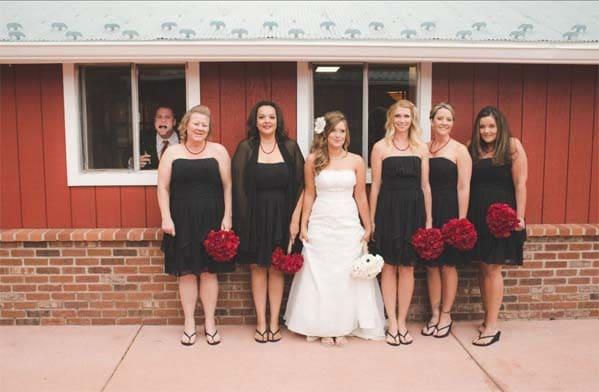 коллективное фото со свадьбы