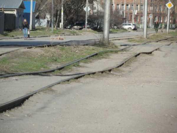 кривые трамвайные пути