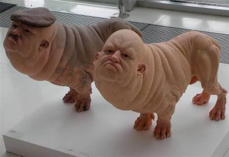 собаки с лицами человека