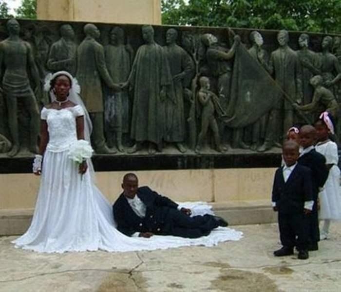 чернокожие жених и невеста