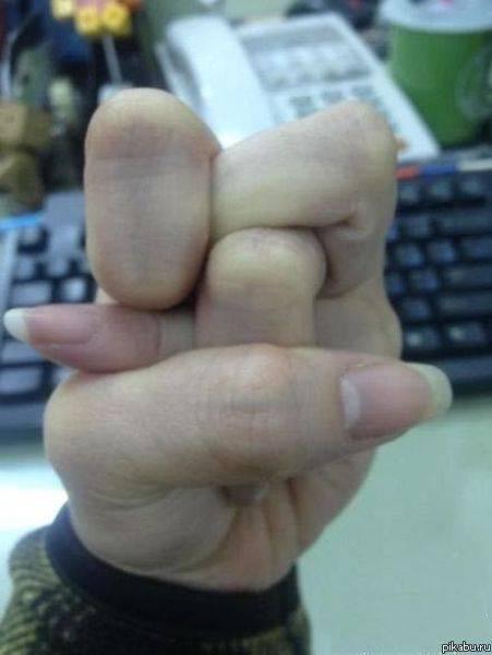 пальцы узлом