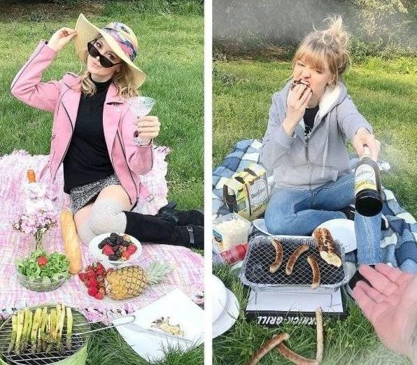 девушка на пикнике