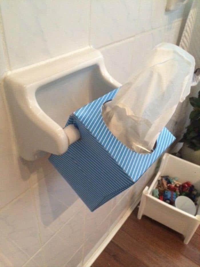 пачка салфеток вместо туалетной бумаги