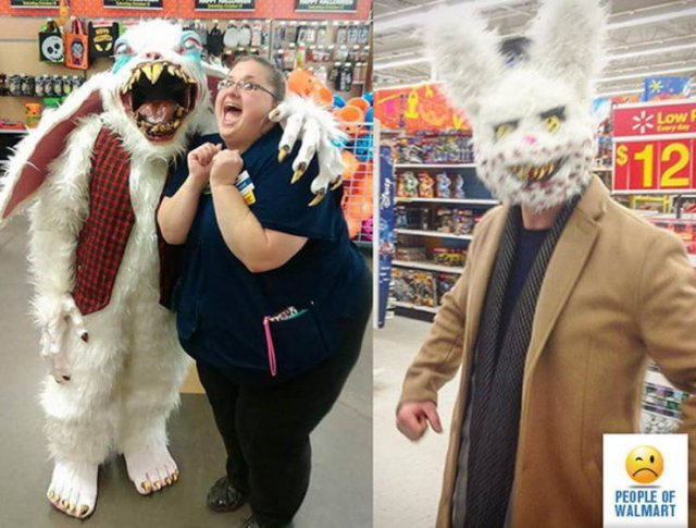 люди в костюме зайца