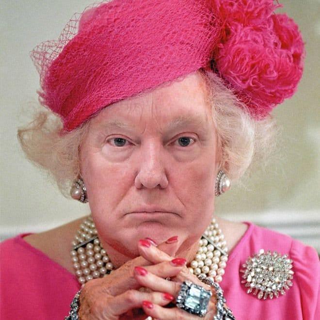 Если бы Дональд Трамп был британской королевой
