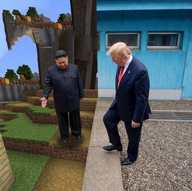 Фотожабы на Дональда Трампа и Ким Чен Ына
