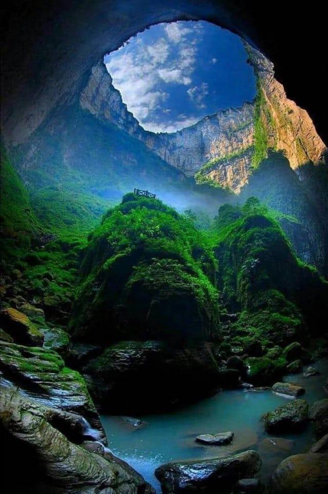 воронка в Китае