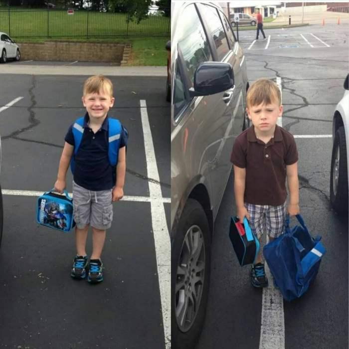 мальчик с портфелем