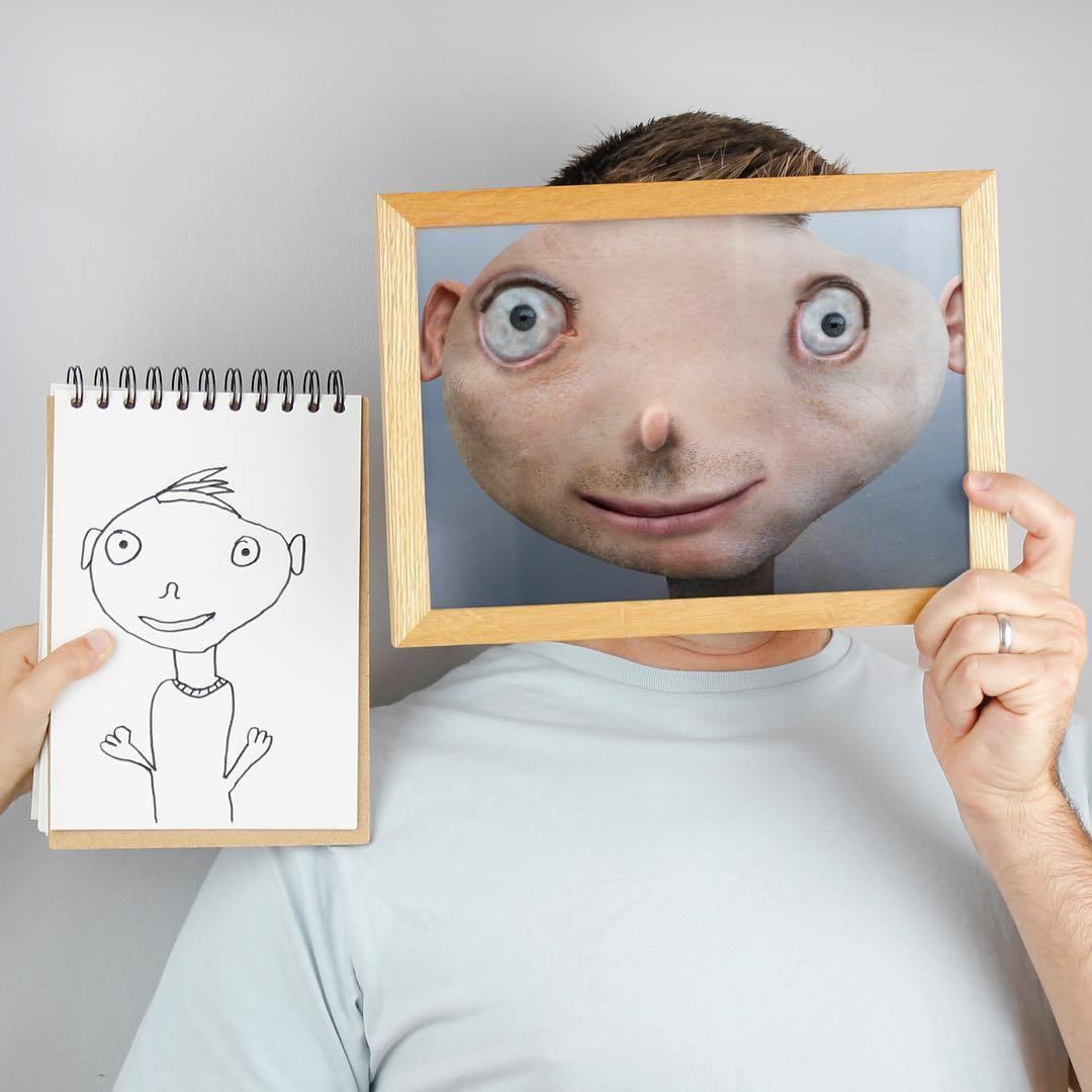 мужчина держит рамку с фото