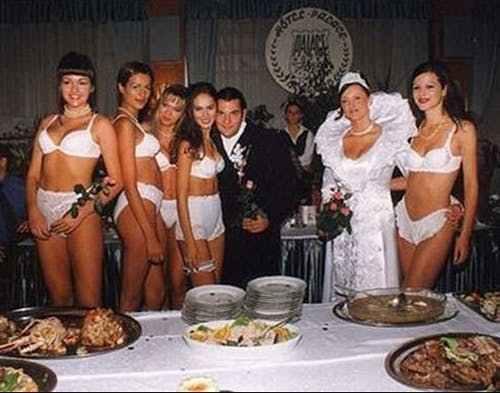подружки невесты в белом белье