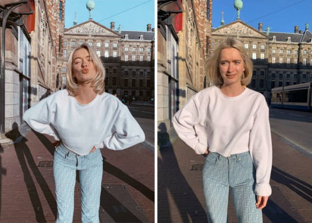 девушка блондинка на улице