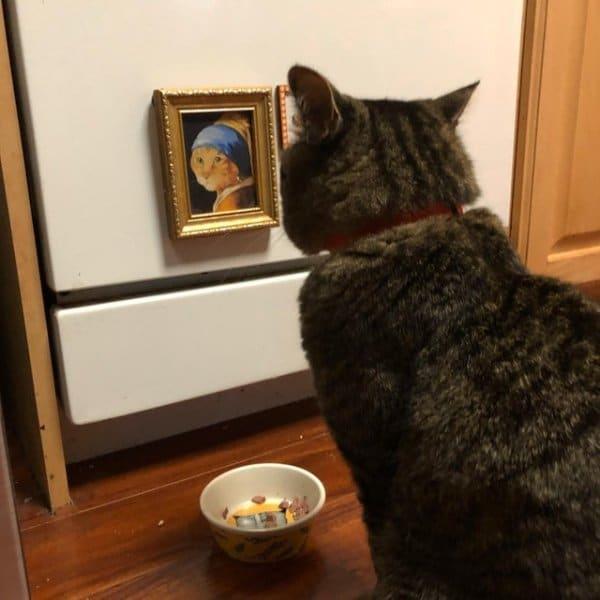 кот и картина