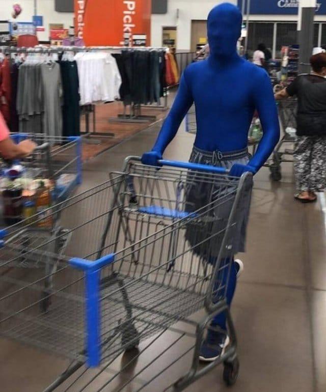 синий человек