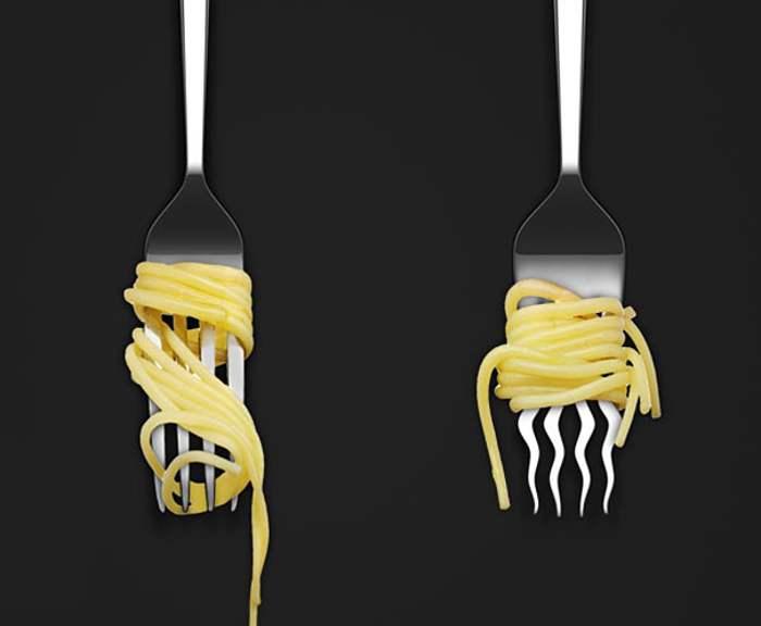 вилка со спагетти
