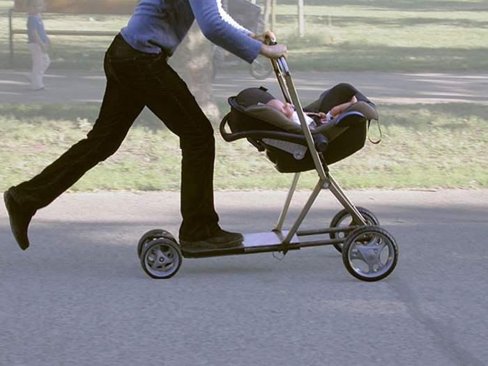 мужчина с коляской