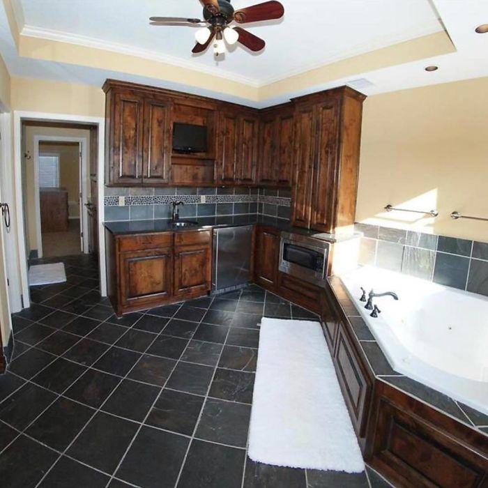 кухонная мебель в ванной