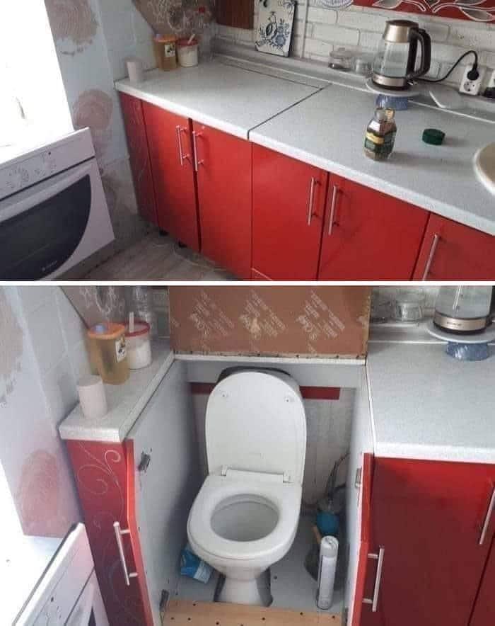 унитаз в кухне