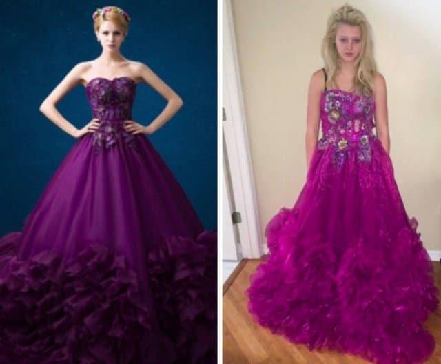 девушка в фиолетовом платье