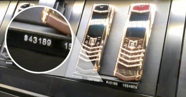 золотые телефоны