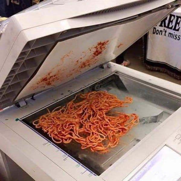 спагетти на ксероксе