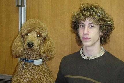парень и его собака