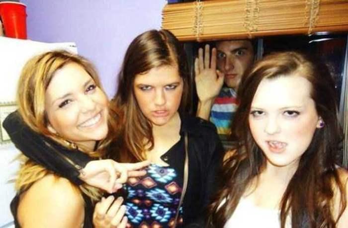 три девушки и парень