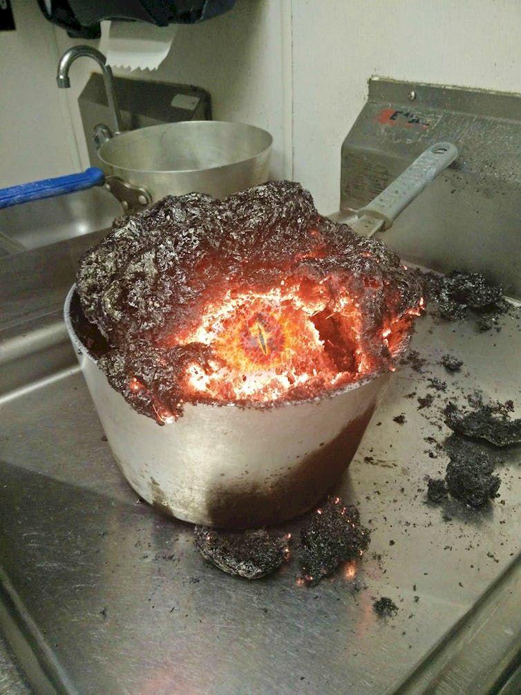 сгорела еда