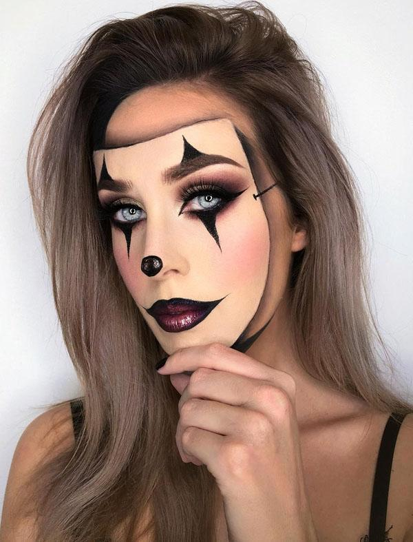"""девушка с макияжем """"под маску"""""""