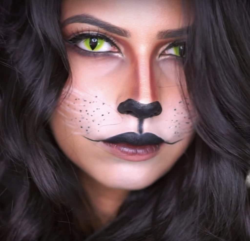 девушка с макияжем кошки