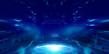 atmospheric cool blue technology background_979980