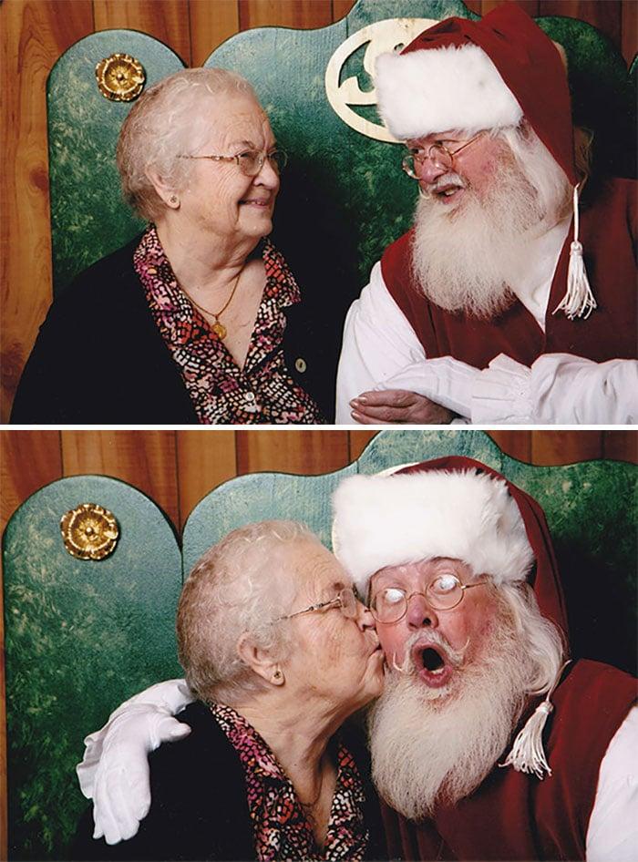 старушка с дедом морозом