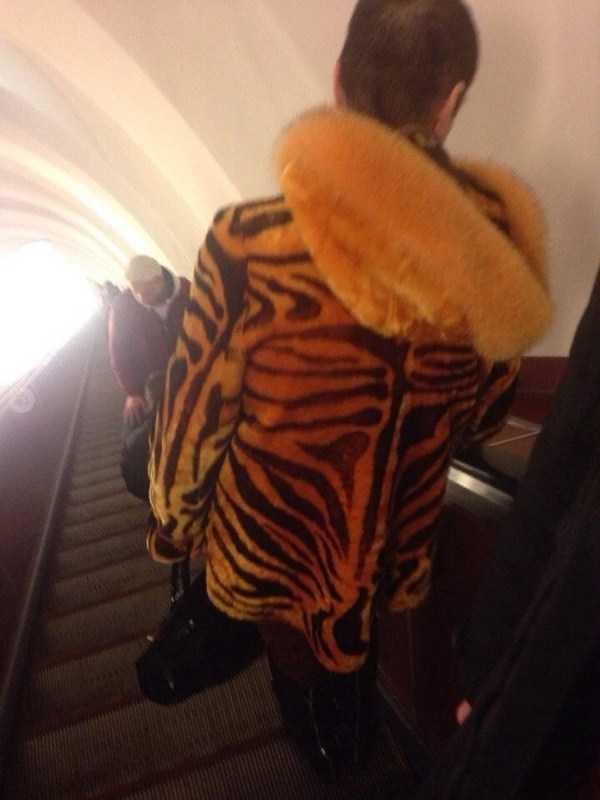 парень в тигровой куртке