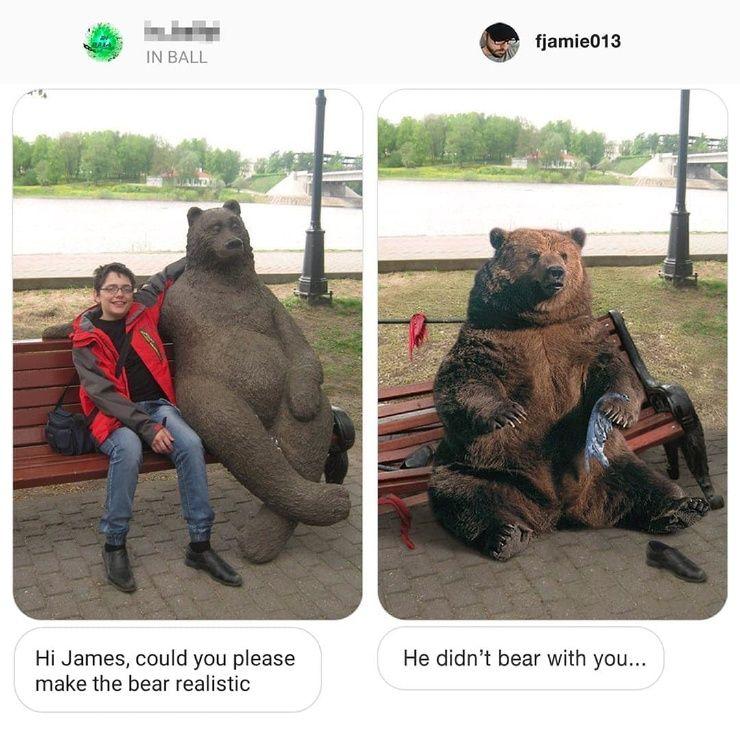 Фотошопер переделывает снимки подписчиков, как они просят — и выполняет просьбы до смешного дотошно Приколы,ekabu,ru,мужчины,смешное,фото,фотографии