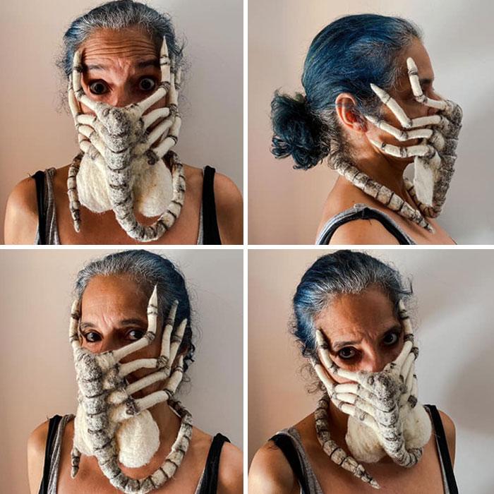 женщина в маске чужого