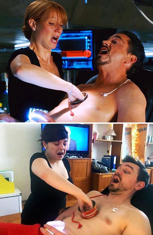 10+ сверхточных кино пародий от венгерской пары, скучающей на карантине Приколы,Это интересно,карантин,кино,пародии,самоизоляция