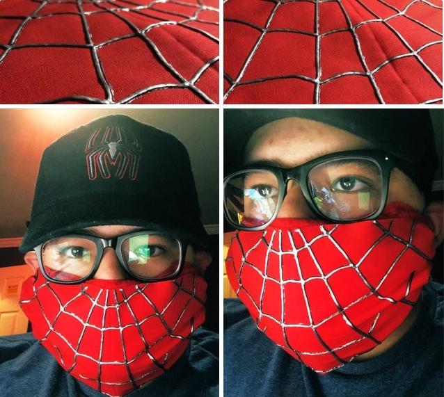 парень в маске человека паука