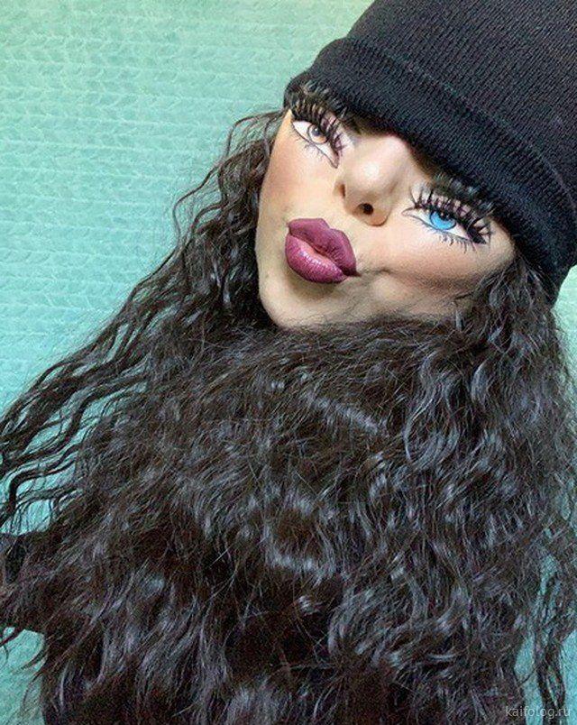 Tiny Face Challenge  Приколы,kaifolog,ru,tinyfacechallenge,иллюзия,макияж,соцсети