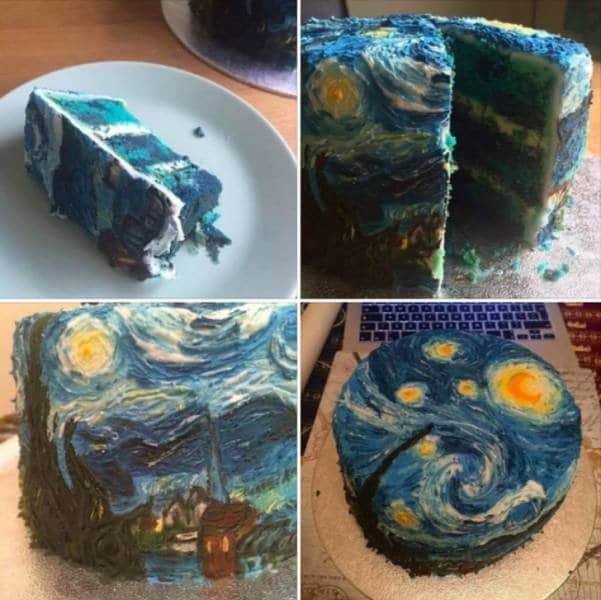 торт синего цвета