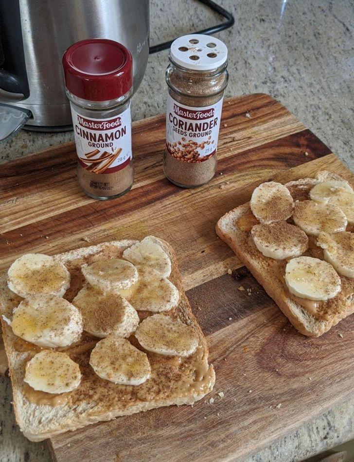 бутерброды с бананом