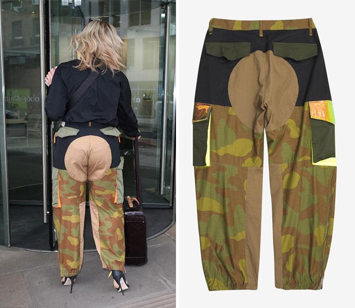 женщина в штанах цвета хаки