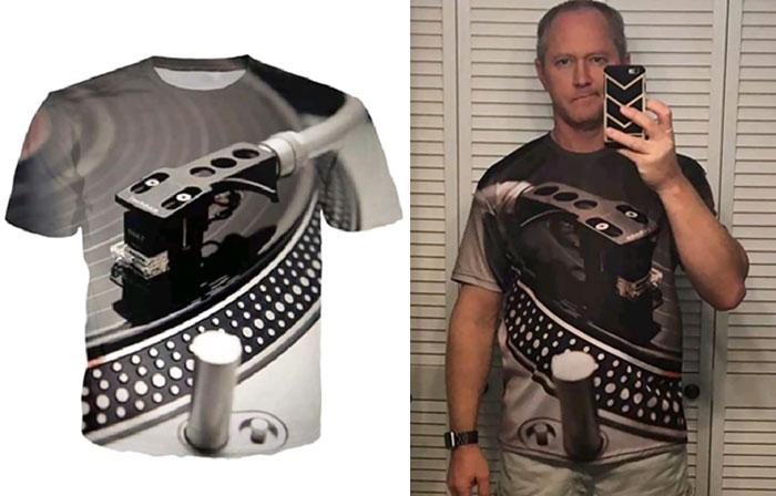 мужчина в футболке с 3D принтом
